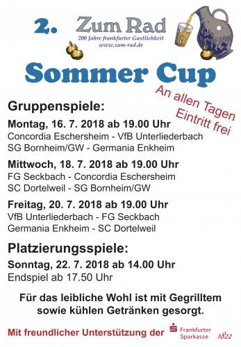 Plakat Zum Rad Sommer Cup 2018