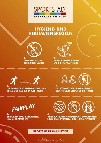 Hygiene- und Verhaltensregeln
